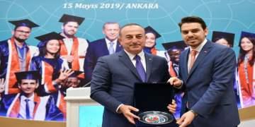 Bakan Çavuşoğlu Türkiye'deki uluslararası öğrencilere hitap etti