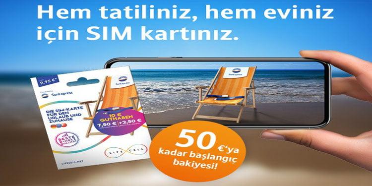 Lifecell'den SunExpress yolcuları için özel SIM kartı!