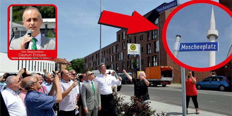 Aachen'da meydana Moscheeplatz (Cami Meydanı) ismi verildi