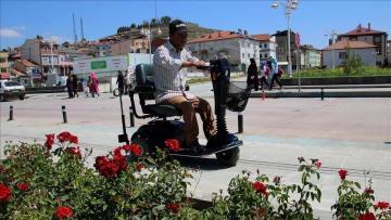 Gurbetçi kadın engellileri sevindirdi