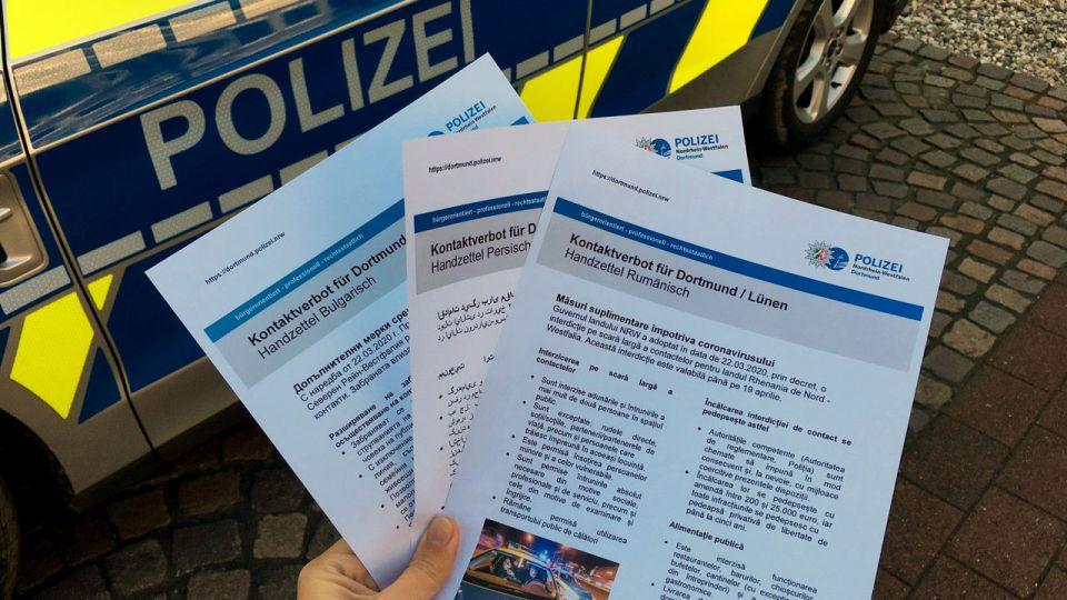 Polisten 15 farklı dilde temas yasağı broşürü