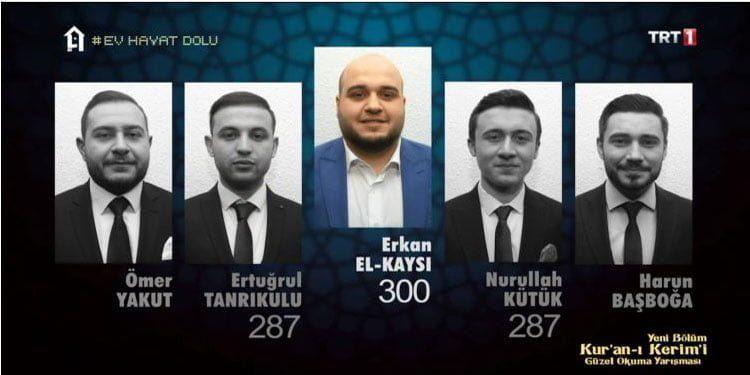 Türkiye Burslusu Erkan el Kaysi Kur'an-ı Kerim'i Güzel Okumu Yarışmasında Birinci Oldu