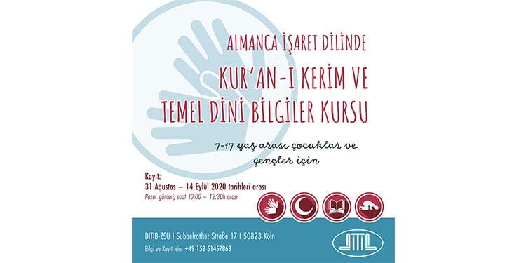 DİTİB'de işaret diliyle Kur'an-ı Kerim kursu kayıtları başlıyor