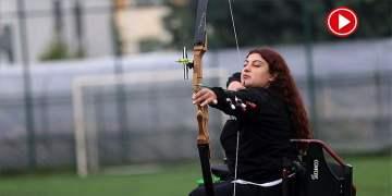 Bedensel engelli okçunun hedefi dünya şampiyonluğu (VİDEO)