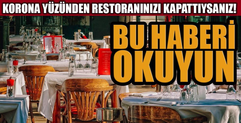Kapatılan restoran 430 bin euro alacak