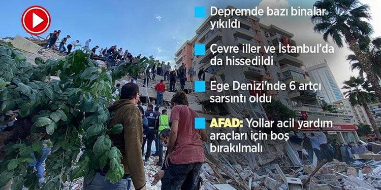 İzmir'de 6,6 büyüklüğünde deprem (VİDEO)