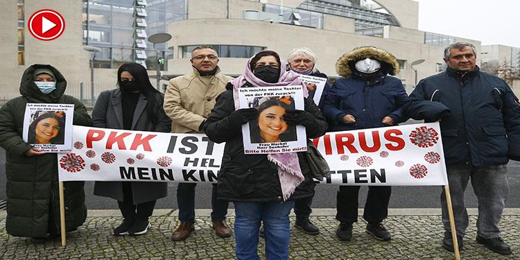 Almanya'da PKK tarafından kızı kaçırılan anne eylemini sürdürüyor (VİDEO)