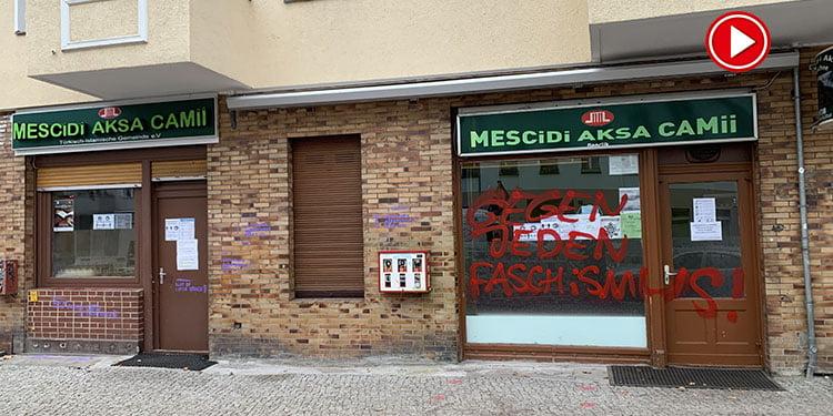 Almanya'nın başkenti Berlin'de camiye saldırı (VİDEO)
