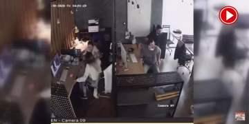 İzmir'deki depremin şiddeti iş yeri kameralarına yansıdı (VİDEO)