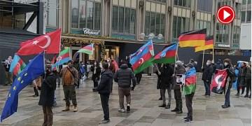 Almanya'da Azerbaycan'a destek mitingi (VIDEO)