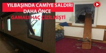 Yeni yılın ilk gününde camiye saldırı (VİDEO)