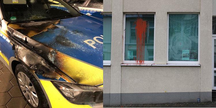 Polise taşlı ve ateşli saldırı