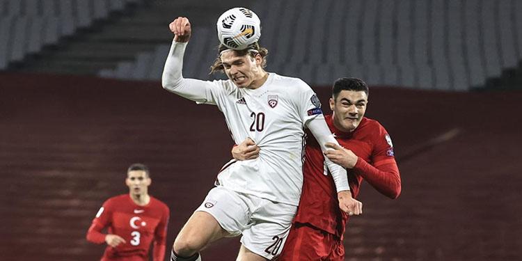 Türkiye, 2022 FIFA Dünya Kupası Elemeleri'ndeki ilk puan kaybını Letonya karşısında yaşadı