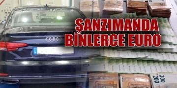 Türk'ün aracında Sırbistan'da binlerce euro yakalandı