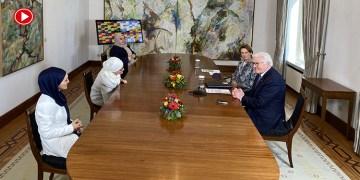 Almanya Cumhurbaşkanı Steinmeier, Bonn'da Müslüman kadınlarla buluştu (VİDEO)