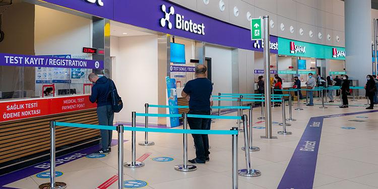 İstanbul Havalimanı'nda yurtdışı yolculara kısa sürede PCR test sonucu