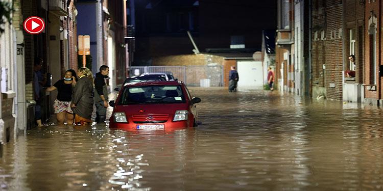 Belçika'da aşırı yağışlar yeniden sele neden oldu (VİDEO)