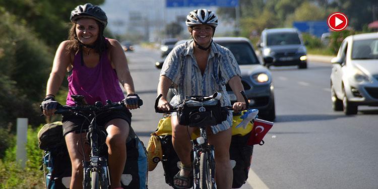 Avusturya'dan bisiklete yola çıkan 3 kadın bir ayda Türkiye'ye ulaştı (VİDEO)