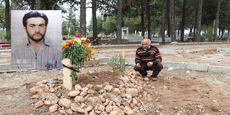 Almanya'da ormanlık alanda kemikleri bulunan Mahmut Caner toprağa verildi