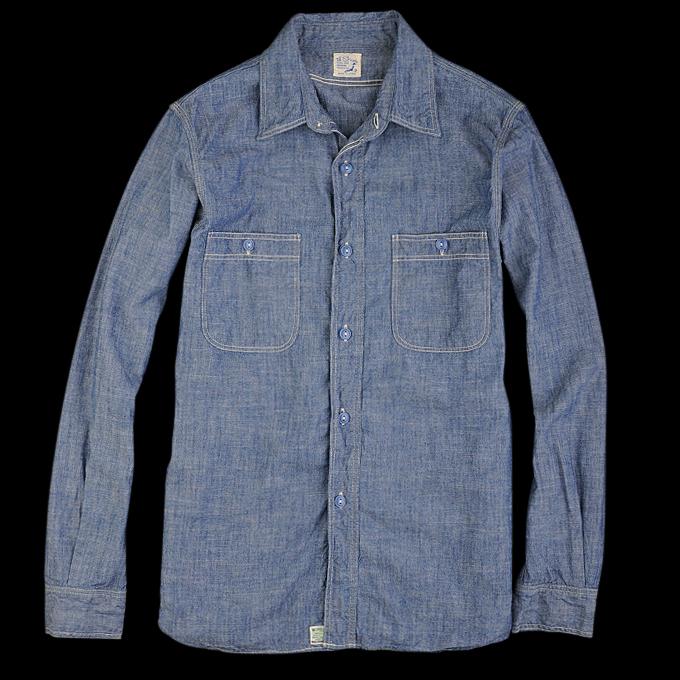 Orslow_Chambray_Shirt_Blue