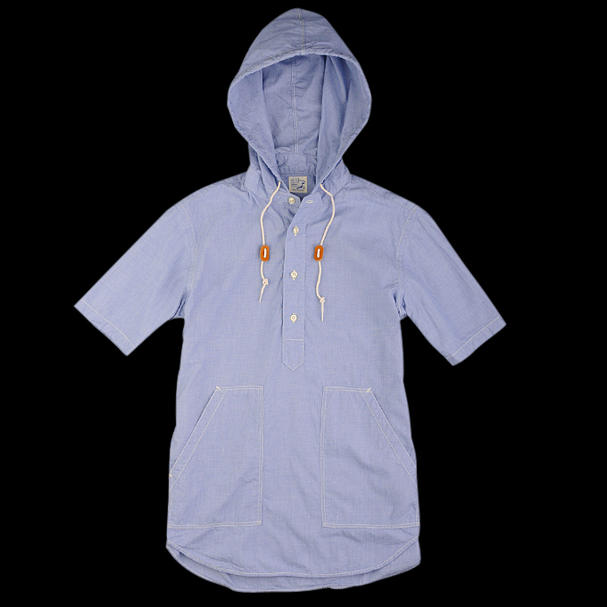 Orslow_Hooded_Pullover_Shirt_Blue