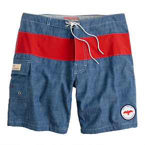 APOLIS X J.Crew Chambray Swim Trunks