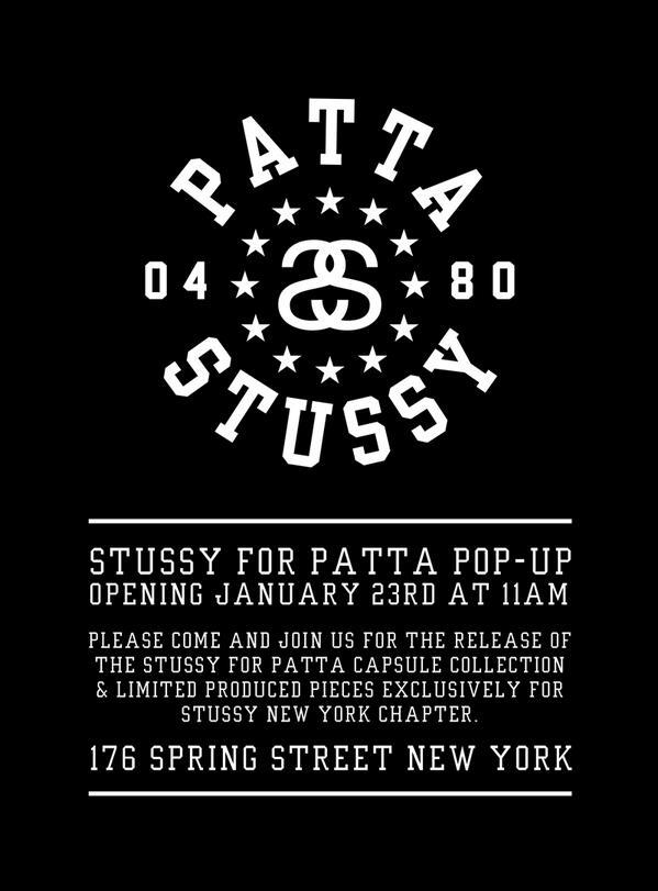Patta x Stussy Pop Up