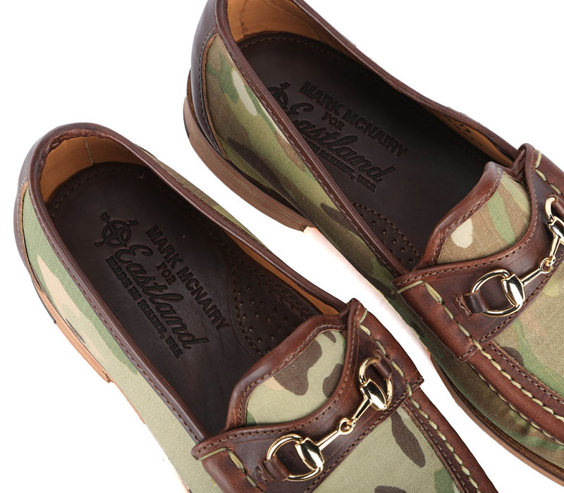 Eastland X Mark McNairy Camo Loafers interior