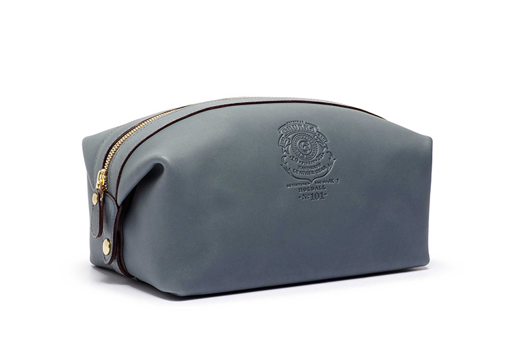 Ghurka Dusk Leather Collection Dopp Kit