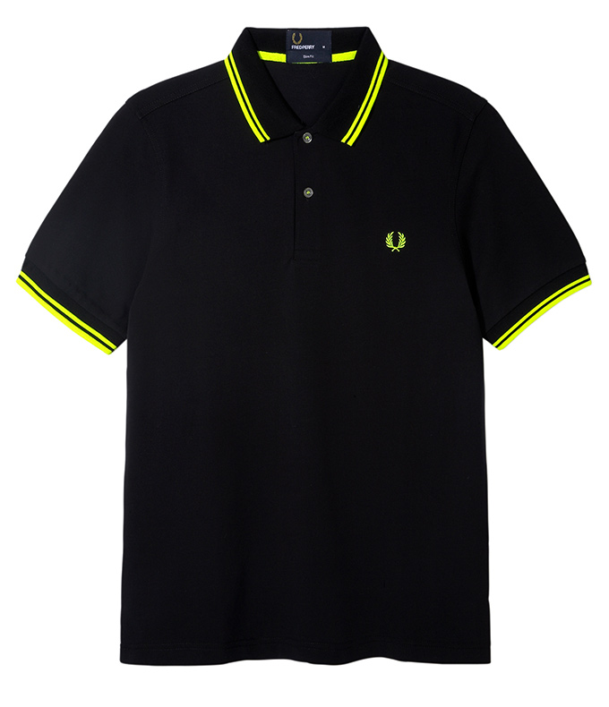 Fred Perry Soho Neon_Polo Yellow Tip