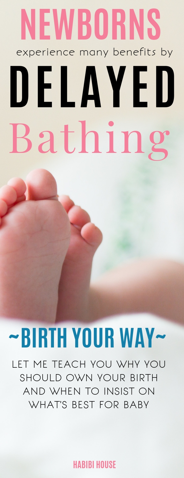4 Important Reasons To Delay Baby's First Bath | The benefits of delayed bathing for newborn babies are too big to ignore. Discover why you need to consider postponing your baby\'s first bath and the health benefits it brings to your newborn. #thehabibihouse #newborncare #babytips #delayingnewbornbath