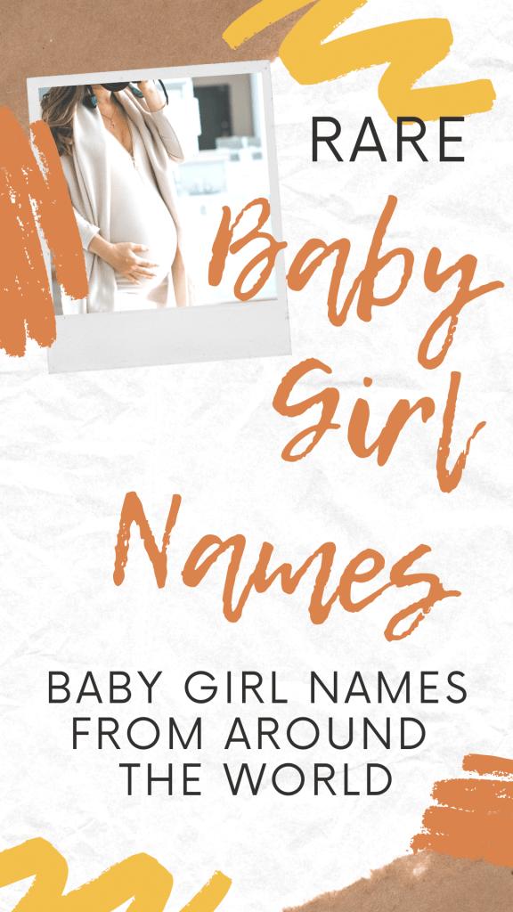 rare baby girl names pin for pinterest