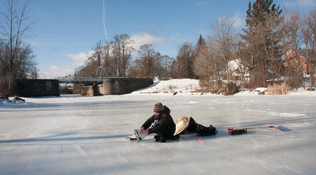 Skating the Rideau Canal in Burritt's Rapids