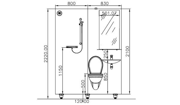 Salles De Bain Prfabriques Cabine 3 En 1 Douche WC Et