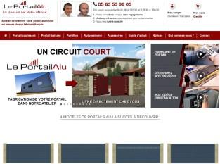 Page d'accueil du site web Le Portail Alu