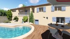 Extension d'une terrasse sur Le Tignet