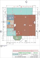 Mise en plan d'un bâtiment industriel pour agrandissement niveau RDC