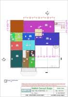 Mise en plan d'un bâtiment industriel pour agrandissement niveau surélévation