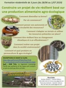 FORMATION Construire un projet de vie collective résilient basé sur une production alimentaire agro-écologique diversifiée