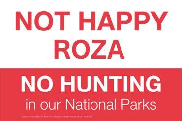 No Hunting Roza
