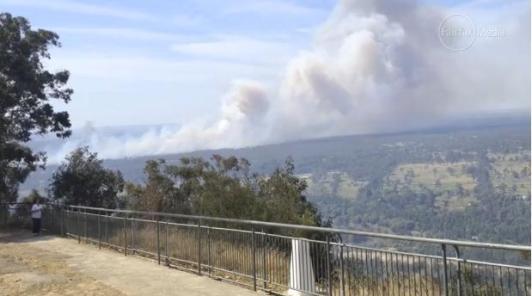 Windsor Downs Nature Reserve ablaze