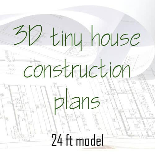 3D tiny house construction plan