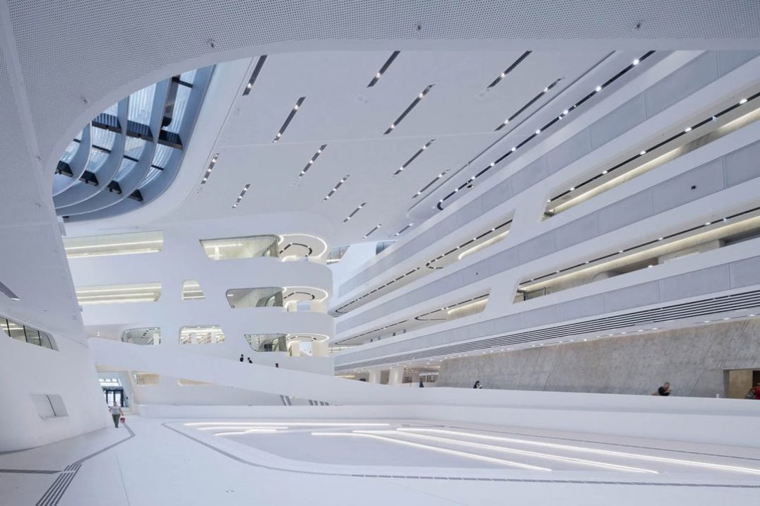 Vienna Economics Library by Zaha Hadid. photography: Iwan Baan
