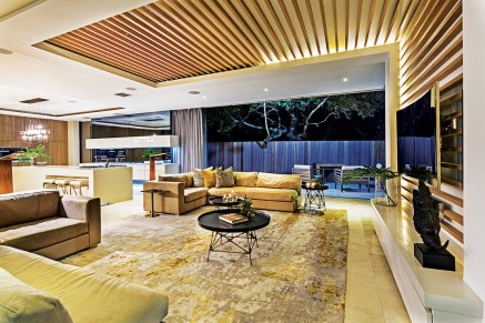 Interior architecture complements the exterior signature; lighting is subtle yet effective
