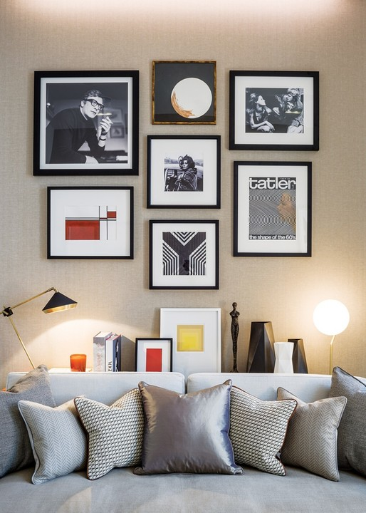he building's former life as King's Reach Tower, the home of IPC Media, is seen in iconic magazine covers and personalities from that era on the walls of the study – a further enclosed space on the apartment's lower floor.
