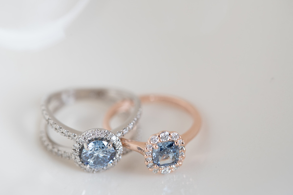 ShinyRock Blue Diamond Rings