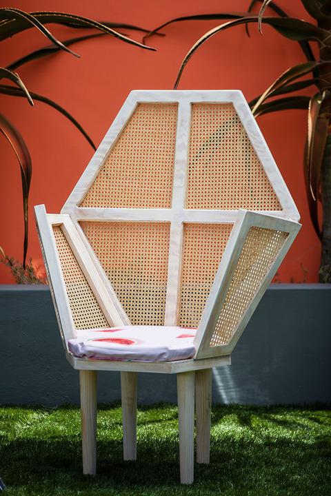 Cane Throne Chair