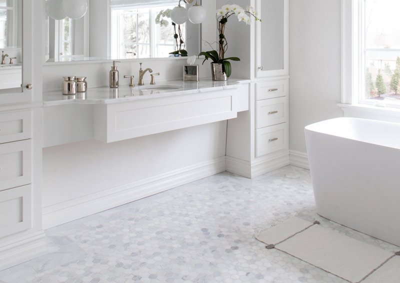 Carrara White Marble Hexagon Mosaic| Price: R150/sheet (excl VAT)