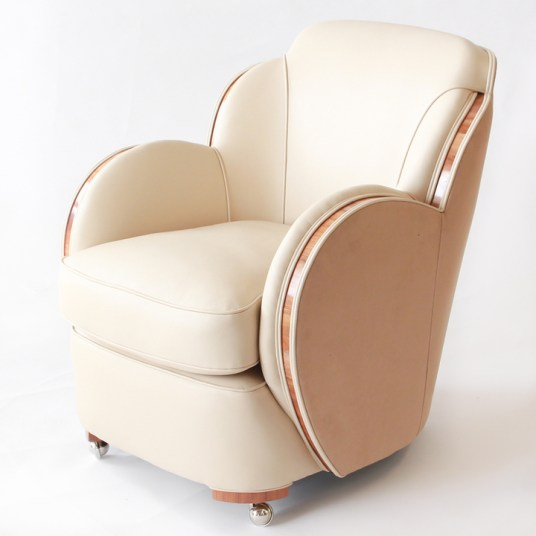 HR JEROEN MARKIES ART DECO - One of pair of Harry & Lou Epstein chairs from the three piece Cloud suite