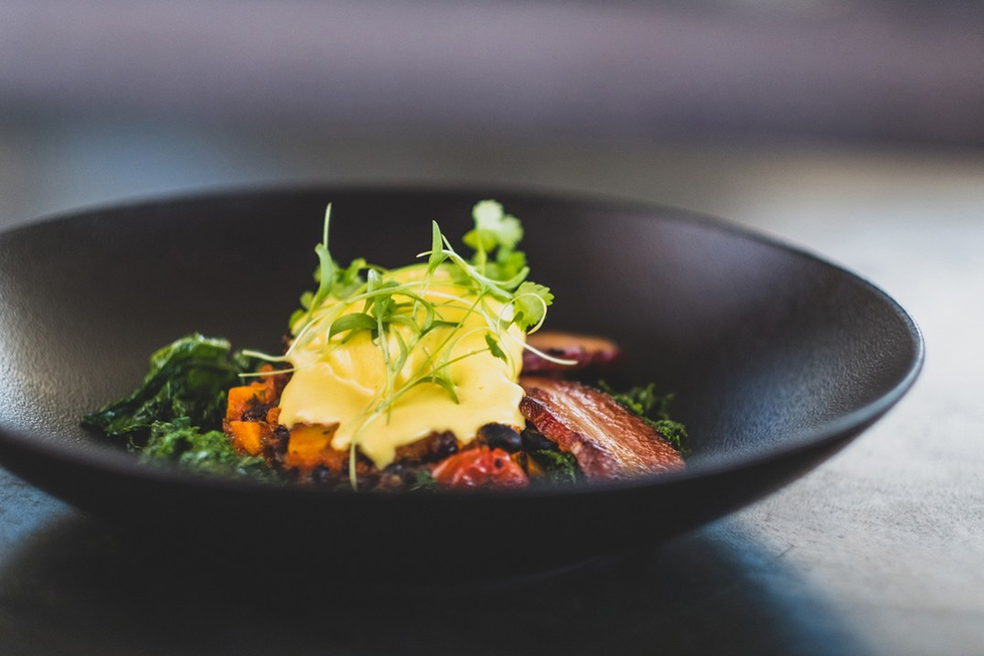 Cellar Breakfast with smoked hollandaise